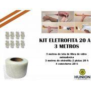 Kit Fita Elétrica Eletrofita 2 Pistas 3 Metros 750v/20amp