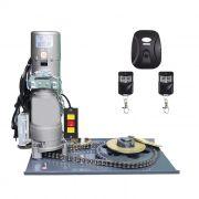 Kit Motor Porta De Enrolar Porta Aco Loja 500kgs Recep 02 Tx