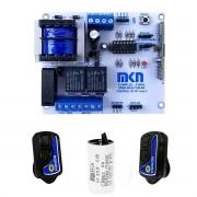 Placa Central Mkn Motor Portão Gatter Peccinin + 2 Controles + Capacitor