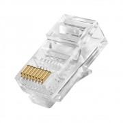 Plug Modular Conector Rj45 8x8 Cabo Rede Lan Pc