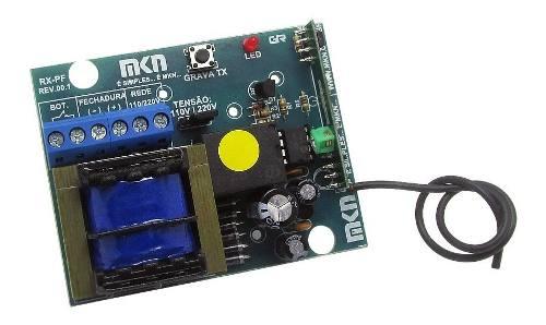 Receptor Fechadura Eletrica Alarme Portão Com Fonte 433mhz