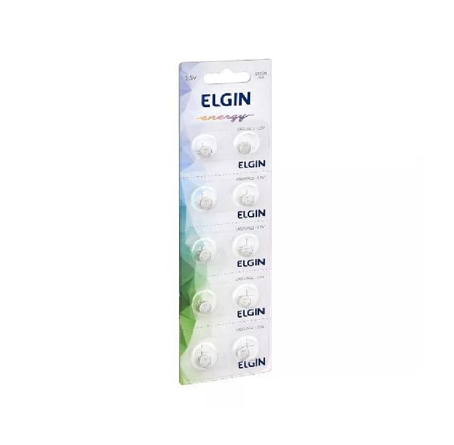 20pcs Bateria Lr621 Ag1 1.5v Elgin Pilha Alcalina Original