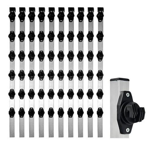 20pcs Haste Cerca Elétrica 23x23 1mt 6 Isoladores Industrial
