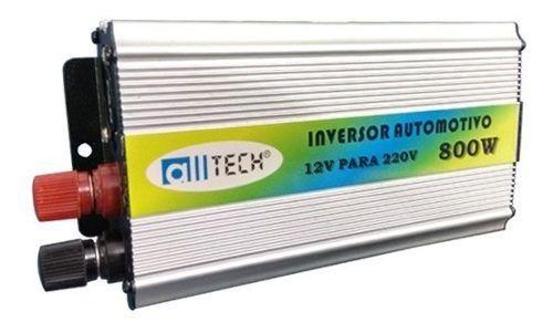Inversor de Tensão 800 watts All Tech Usb Entrada 12v Saída 220v