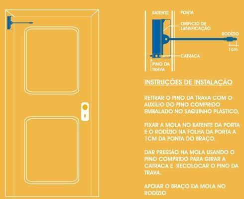 Mola Para Porta Aerea Coimbra Leve 30kgs Preta Triunfo 454