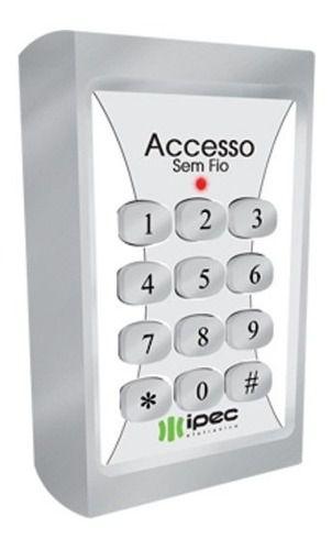 Teclado Controle De Acesso Sem Fio Ipec 80 Senhas 433mhz