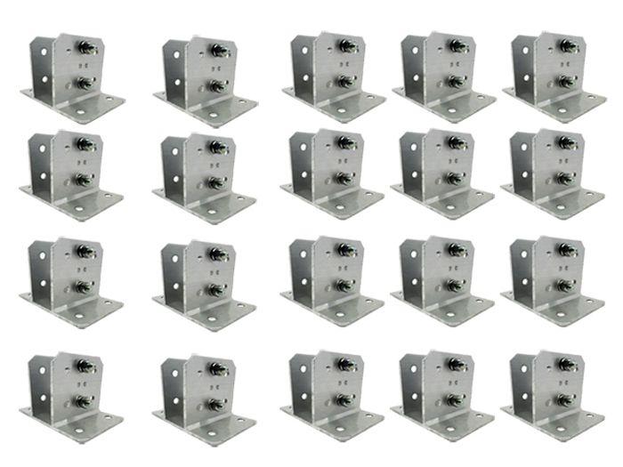 25pcs Suporte Alumínio P Haste Industrial E Big Haste 23x23