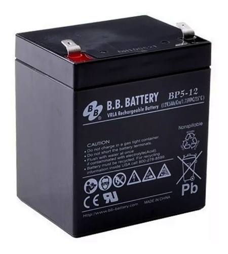 2pcs Bateria 12v 5ah Bb Battery Nobreak Sms Apc Bp5-12