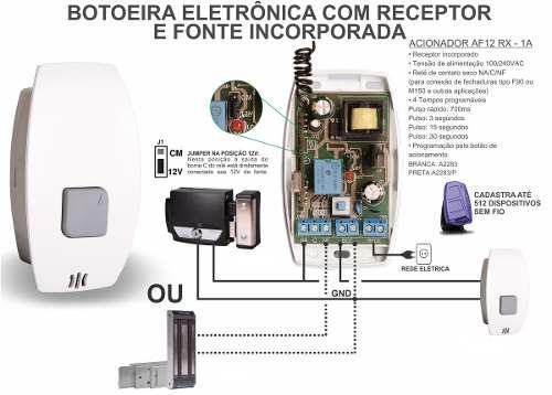 2pcs Botoeira Acionador Receptor Prime Eletrônica 1a - Ipec
