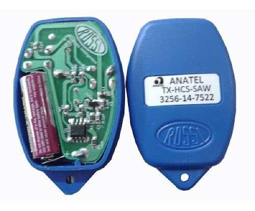 2pcs Controle Remoto Rossi Original Azul Portão Eletrônico 433mhz Kit Com 02 Unidades Segue Com Pilha