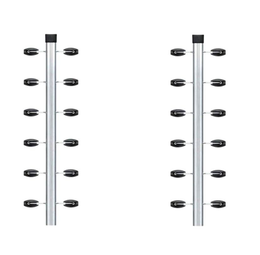 2pcs Haste Canto Cerca Elétrica Industrial 23x23 Aluminio 1m