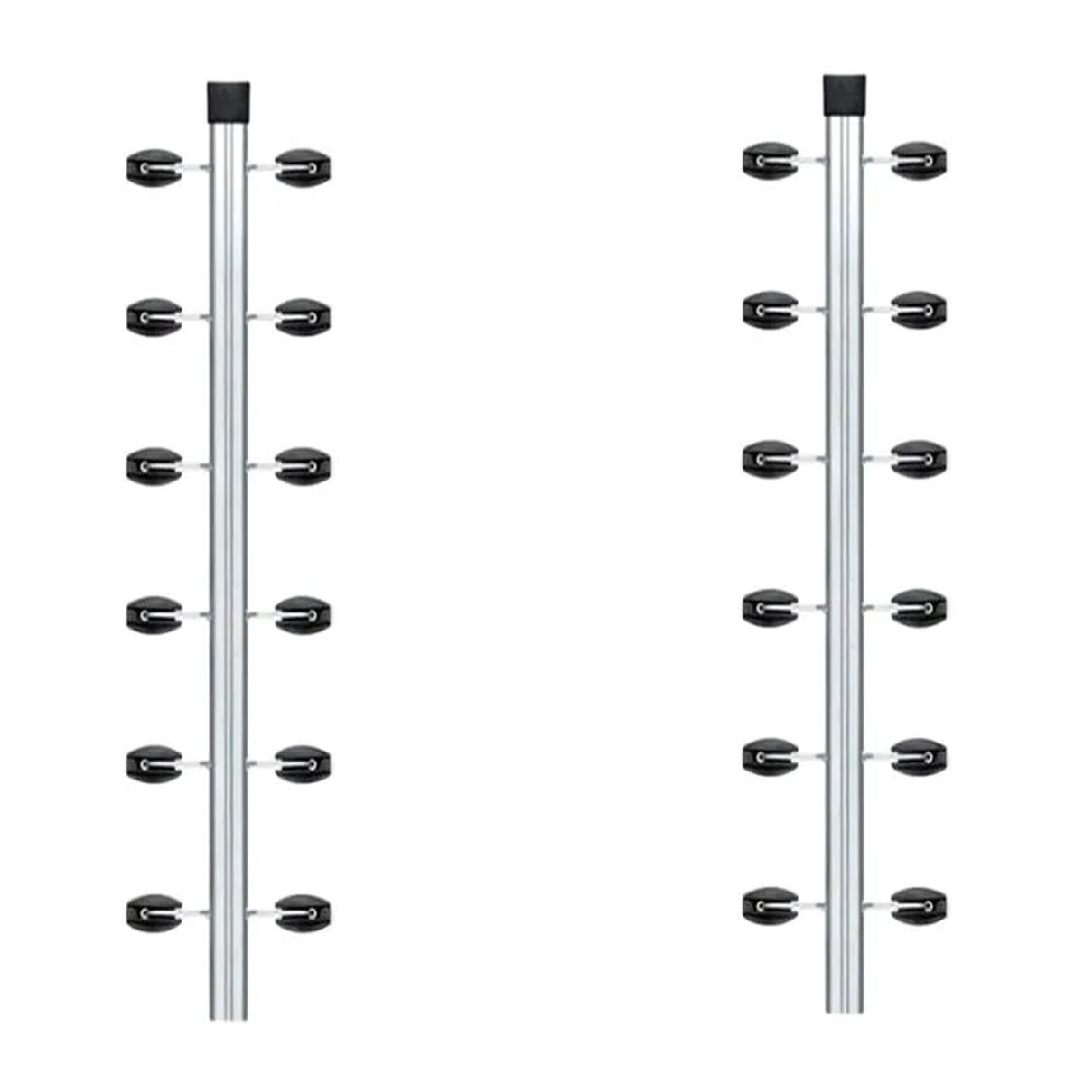 2pcs Haste Canto Cerca Elétrica Industrial 25x25 Aluminio 1m