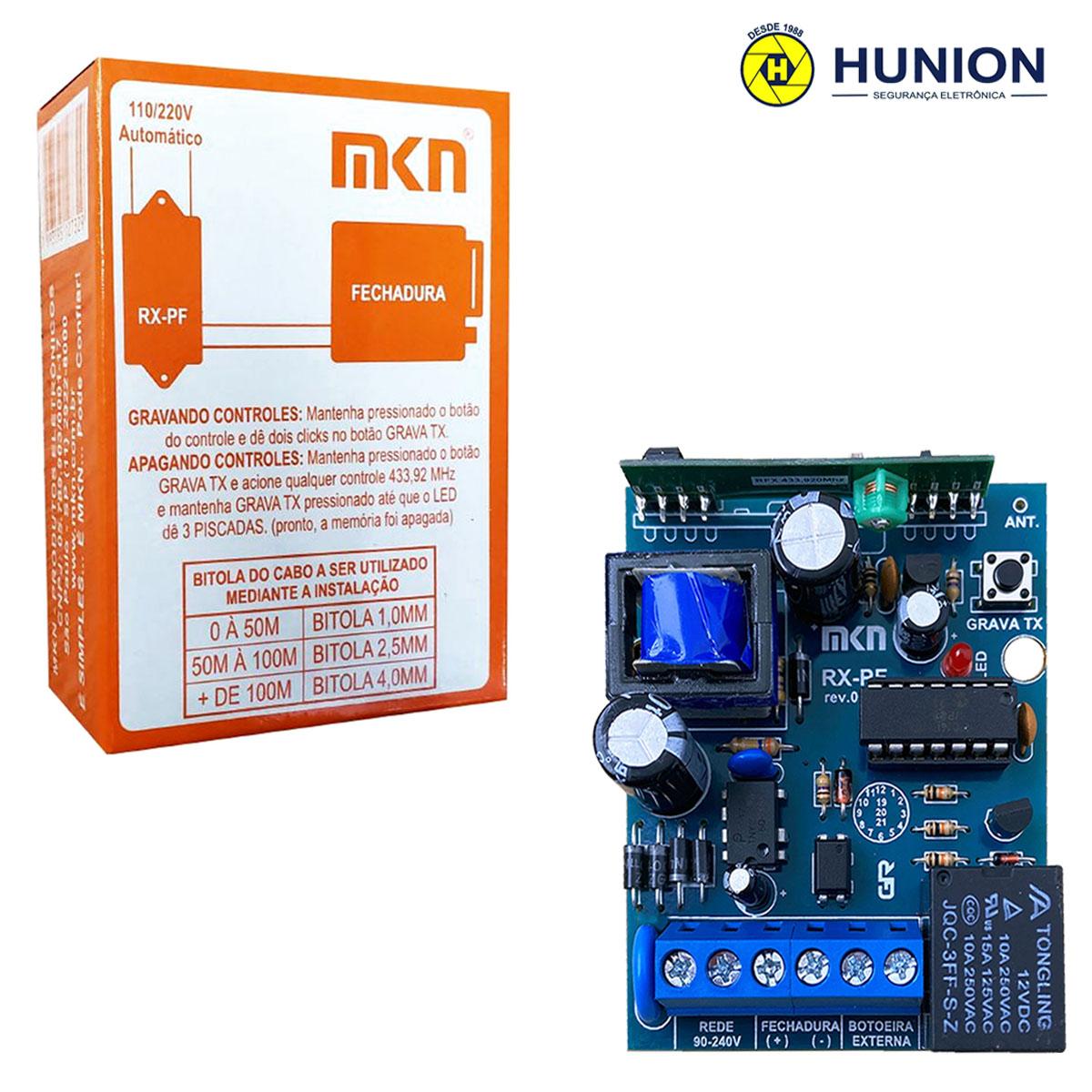2pcs Receptor Fechadura Eletrica Alarme Portão Fonte 433mhz