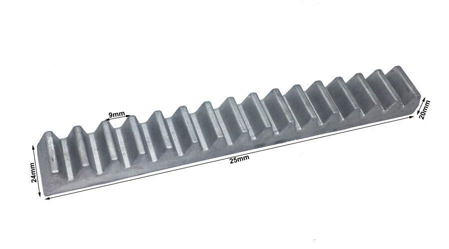 30pcs Gomo Rossi Original Aluminio Cremalheira 25cm M4 30 Unidades Com 25cm Cada Total 7,50mts