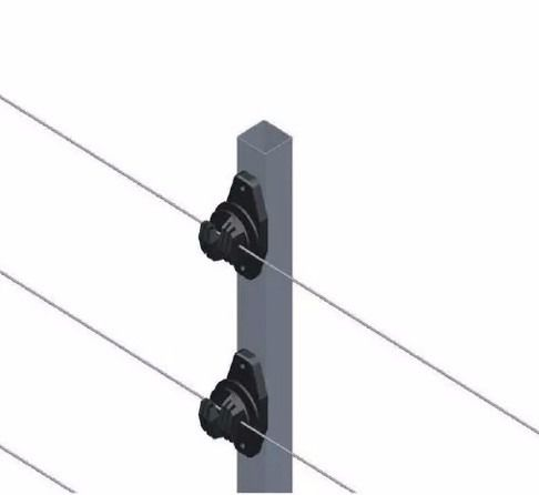 30pcs Haste Cerca Elétrica 23x23 1mt 6 Isoladores Industrial