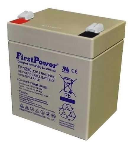 Bateria 12v 5ah First Power Fp1250 Nobreak Sms Apc