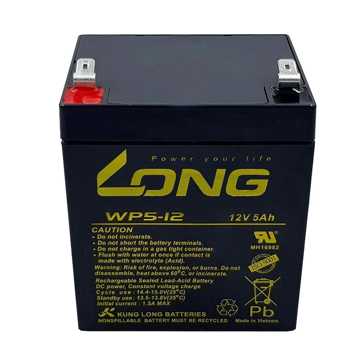 3pçs Bateria 12v 5a Long Nobreak Sms Apc Wp5-12