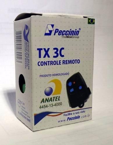 3pcs Controle Remoto Peccinin Portão Original 433mhz Cinza