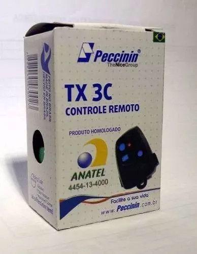 3pcs Controle Remoto Peccinin Portão Original 433mhz Preto