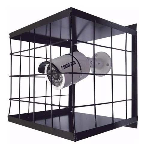3pcs Grade Proteção Gaiola Câmera Cftv 20x20cm Preta Epoxi