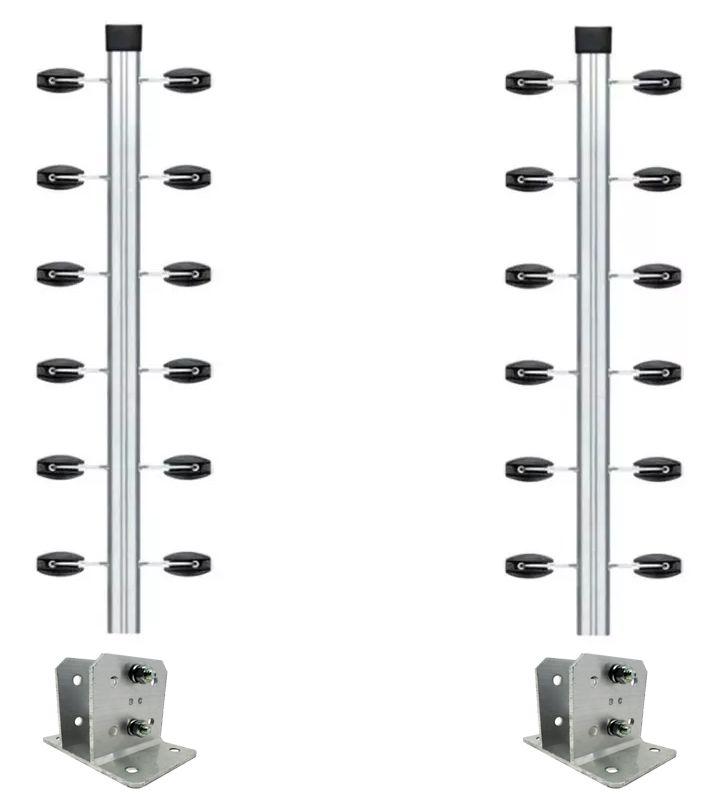 4pcs Haste Canto Cerca Elétrica 23x23 1mt Industrial Suporte