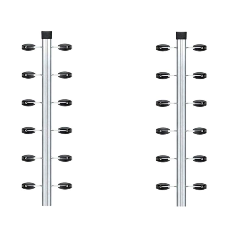 3pcs Haste Canto Cerca Elétrica Industrial 25x25 + 3 Suportes
