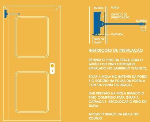3pcs Mola Para Porta Aerea Coimbra Leve 30kgs Bege Triunfo