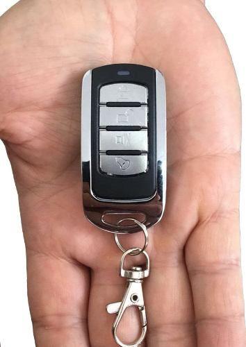 4pc Controle Remoto Alarme Portão 4 Botoes Cromado Ppa Garen