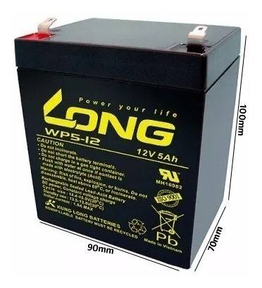 4pçs Bateria 12v 5a Long Nobreak Sms Apc Wp5-12