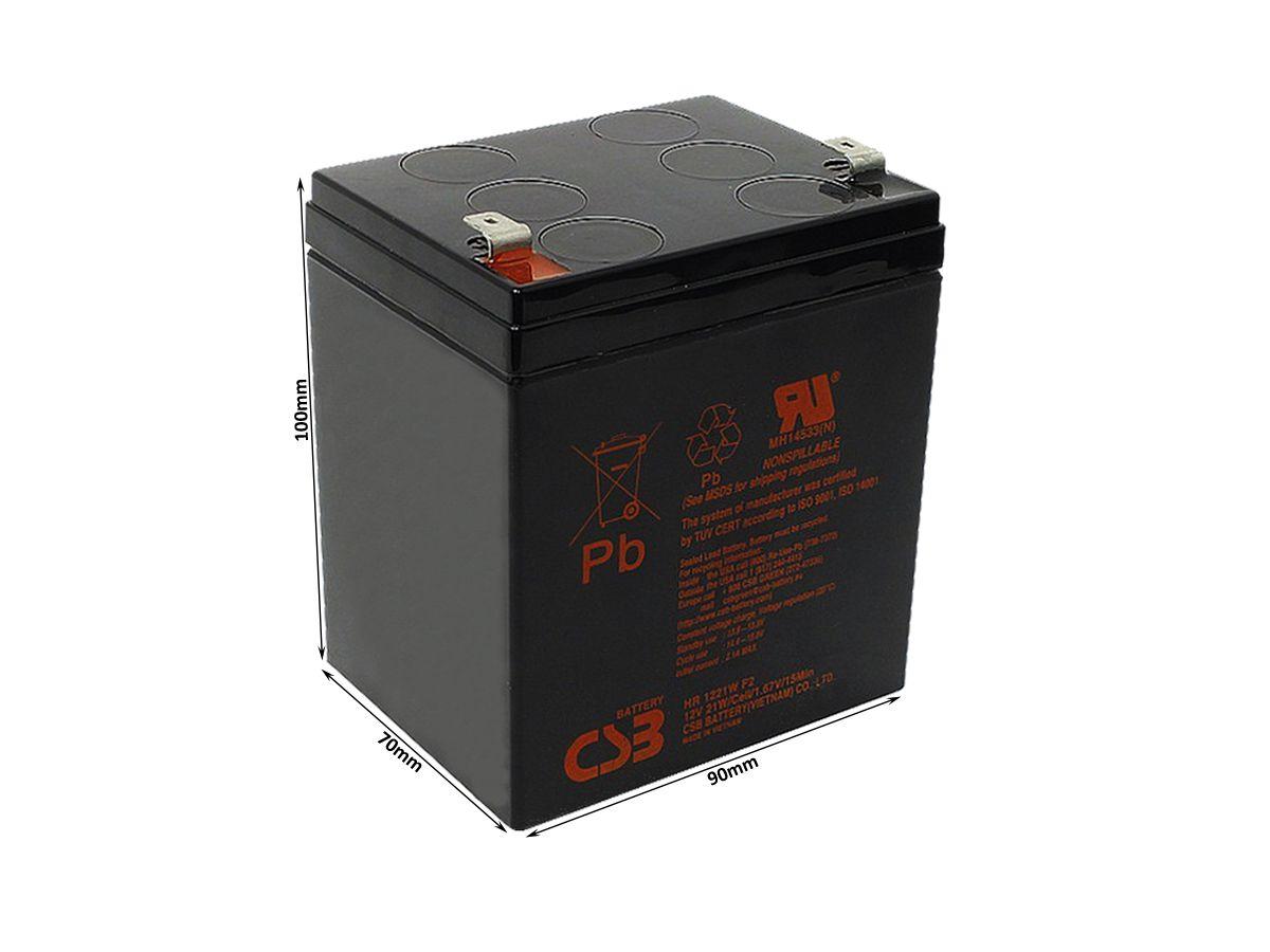 4pcs Bateria 12v 5ah Csb No Break Apc Sms Hr1221w Original