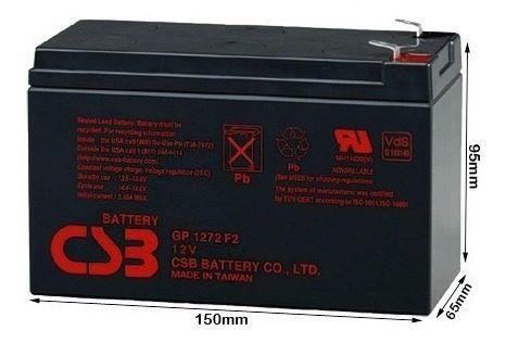 4pcs Bateria Csb 12v 7ah Gp1272 F2 Apc Alarmes No Breaks