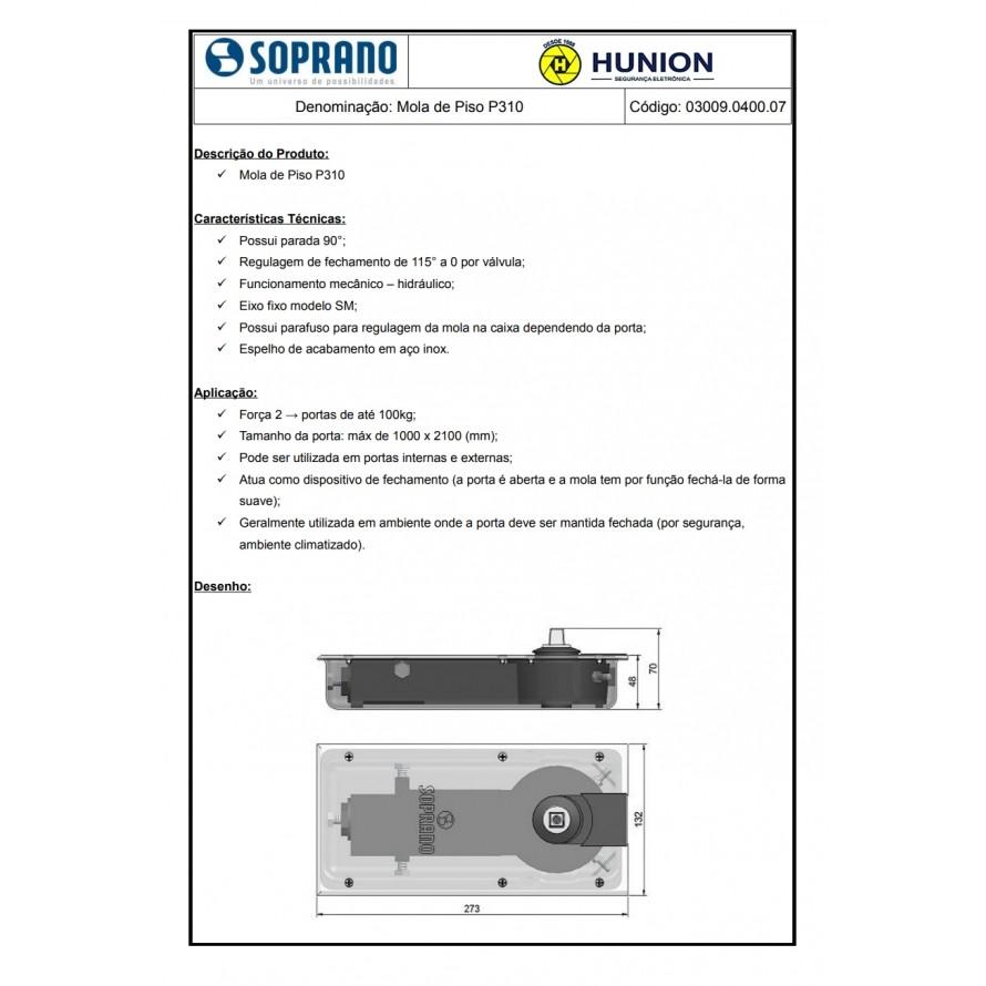 4pcs Mola Soprano De Piso Para Portas De Vidro Modelo P310