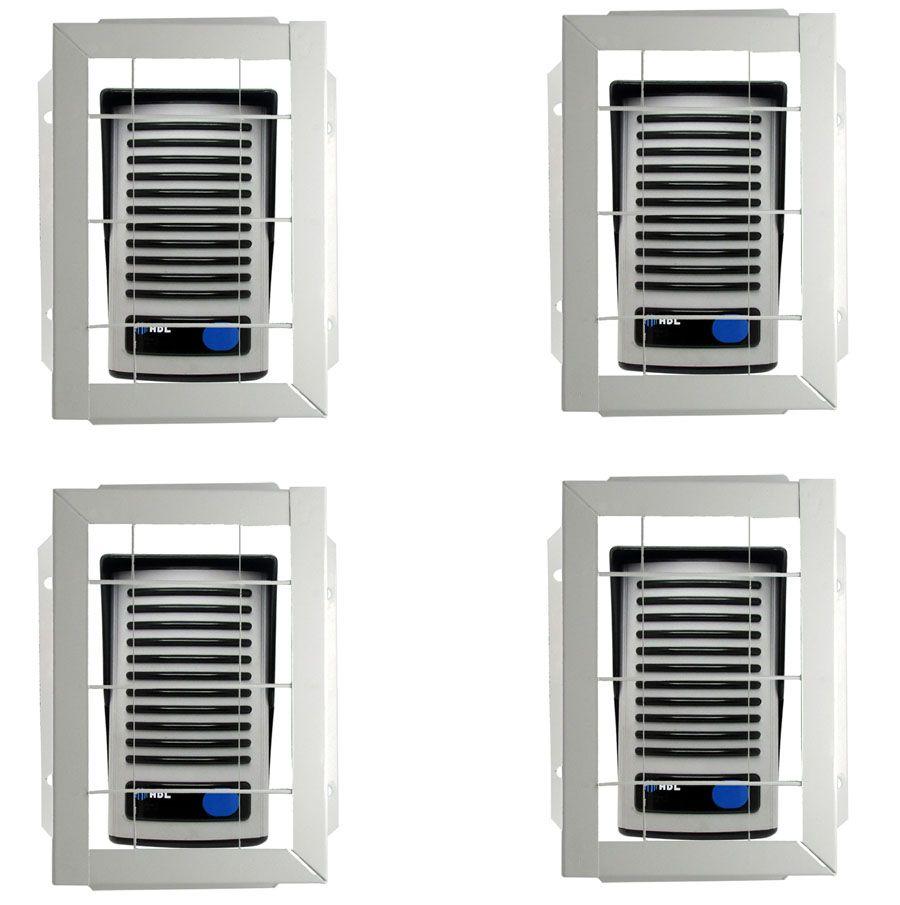 4pcs Protetor Interfone Branco Grade Video Porteiro