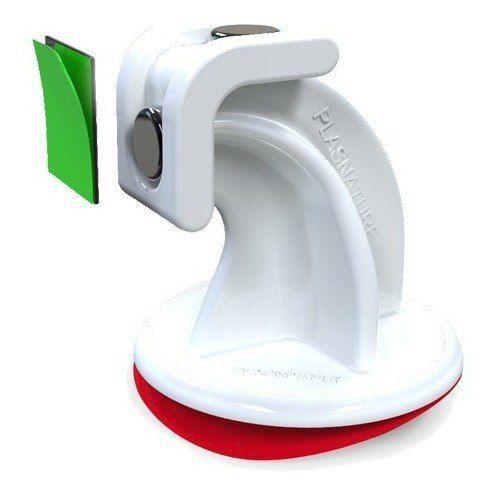 4pcs Trava Portas Magnetico Branco C/ Fixação Adesiva Novo