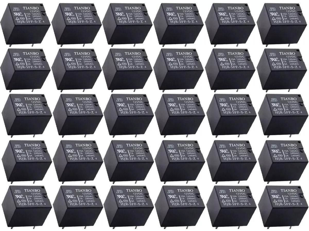 500pcs Rele 12v 01 Contato 10a Tianbo