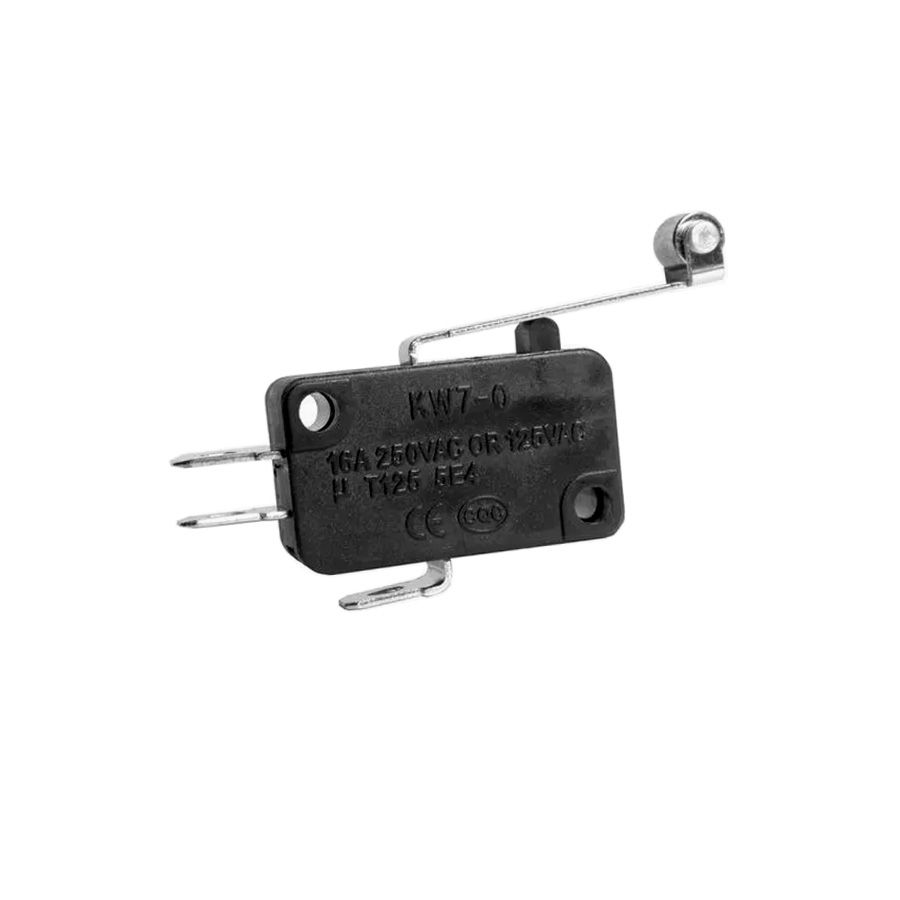 50pcs Chave Micro Switch Fim De Curso Haste 29mm Com Roldana