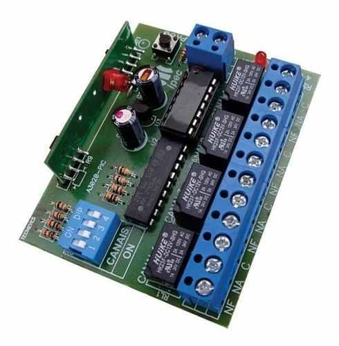 Receptor Ipec 4 Canais Portão Alarme Pulso Retenção 433mhz