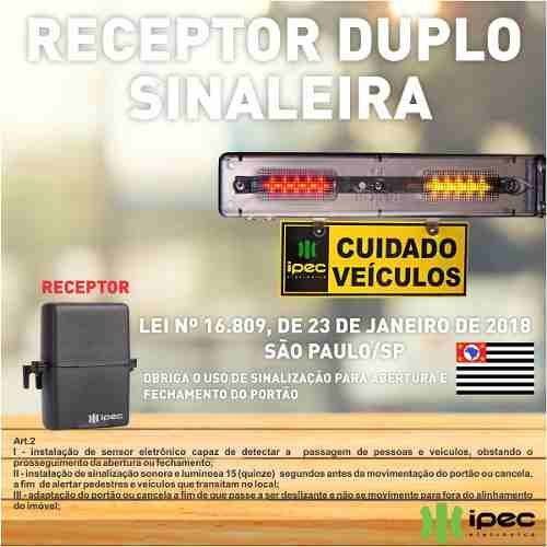 Receptor Sinaleira Duplo Ipec Nova Lei 15 Segundos Novo