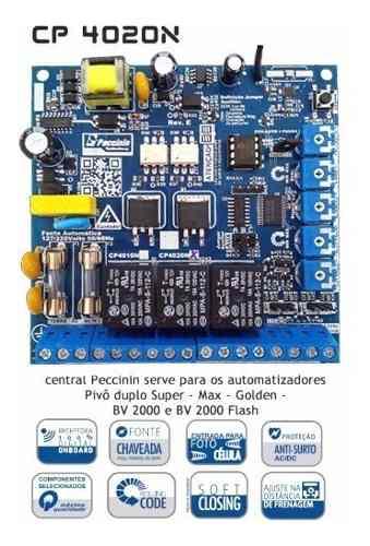 Central Placa Portao Dupla Automatico Peccinin Cp4020 Cp2010