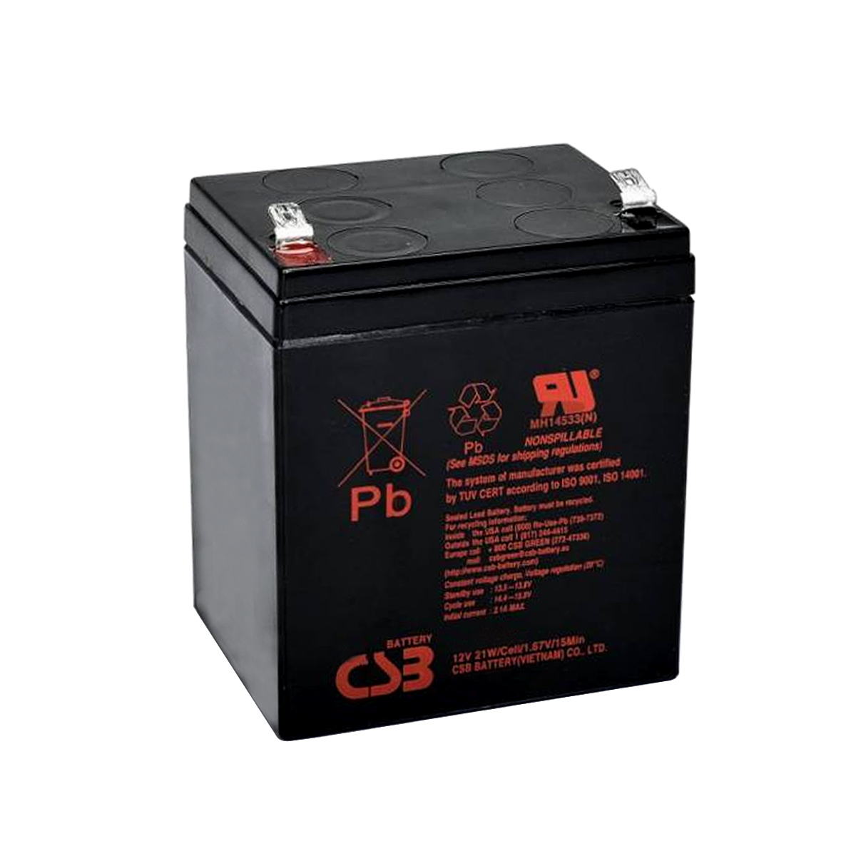 5pcs Bateria 12v 5ah Csb No Break Apc Sms Hr1221w Original