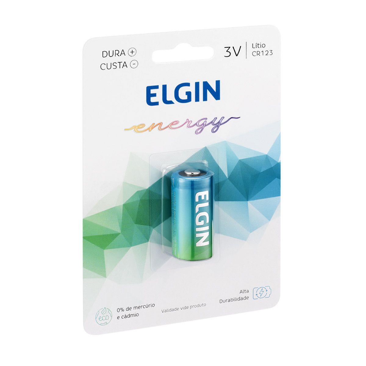 5pcs Bateria Pilha 3v Cr123 Elgin Original Lacrado