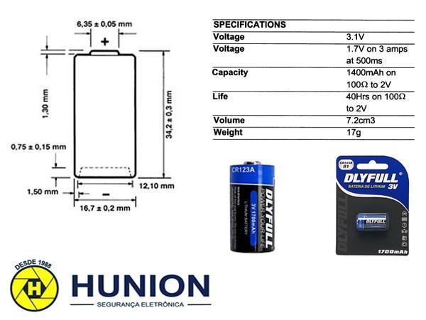 5pcs Bateria Pilha 3v Cr123a Original Cartela Blister