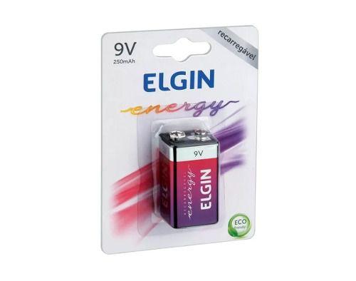 5pcs Bateria Pilha Elgin 9v Recarregavel 250mah Original