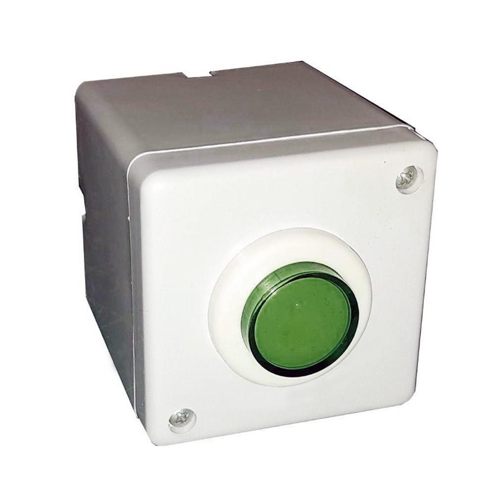 5pcs Botoeira Botão Comando Fechadura Elétrica Portão Branca
