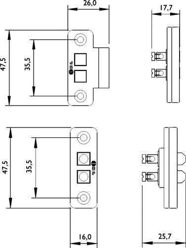5pcs Contato Deslizante Fechadura Elétrica Porta Portão Hdl