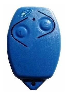 5pcs Controle Remoto Rossi Original Azul Portão Eletrônico 433mhz Kit Com 05 Unidades Segue Com Pilha