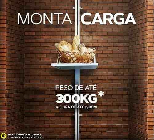 Elevador De Carga 6,80mts 150kgs Pronta Entrega Monta Carga