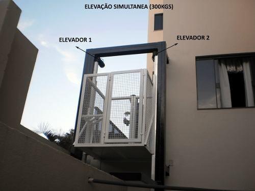 Elevador De Carga 4,00mts Fast 80kgs 220v A Pronta Entrega