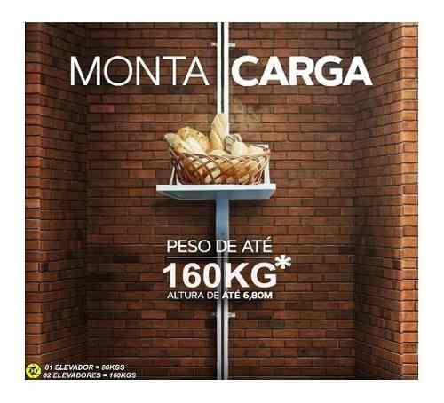 Elevador De Carga Rossi 3,50mts Fast 80kgs Pronta Entrega
