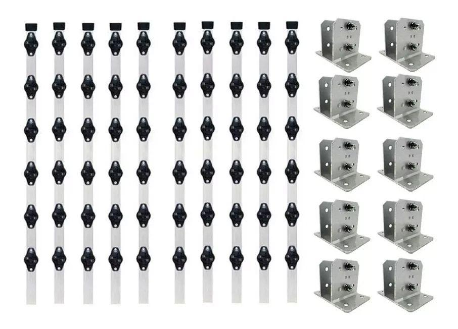 62pcs Haste Cerca Elétrica 23x23 1mt Industrial + Suporte